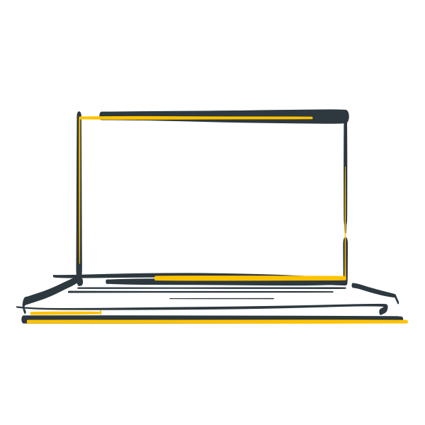 A drawing of a laptop.